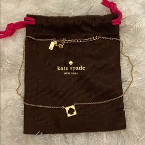 Kate Spade Square Punch Out Spade Necklace